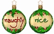 Naughty or Nice Ornament by Inge Glas