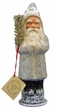 Old Santa with Silver Coat & Tree Paper Mache Candy Container by Ino Schaller