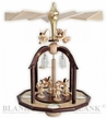 Glass Bells and Angels Tealight Pyramid by Engelmanufaktur Blank