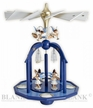 Glass Bells and Angels Painted Tealight Pyramid by Engelmanufaktur Blank