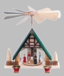 Nativity with Green Roof Pyramid by Franz Karl from Germany