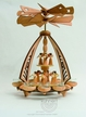 Angel Double Tealight Pyramid by Drechslerei Kuhnert