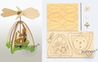 Make it Yourself Mini Easter Pyramid Kit by Drechslerei Kuhnert