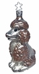 Perfect Brown Poodle Ornament by Inge Glas in Neustadt by Coburg