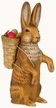 Petite Legendary Easter Bunny Paper Mache Candy Container