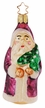 Purple Father Christmas Ornament by Inge Glas