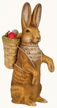 Rabbit with Back Basket  Paper Mache Candy Container by Marolin