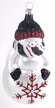 Red and Black Snowman Ornament by Hausdörfer Glas Manufaktur