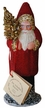 Red Beaded Santa Paper Mache Candy Container by Ino Schaller