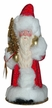 Red Beaded with White Fur Santa Paper Mache Candy Container by Ino Schaller