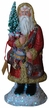 Red Coat Santa with Drum Paper Mache Candy Container by Ino Schaller