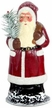 Red Coated Santa Paper Mache Candy Container by Ino Schaller