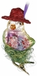 Red Hatter, Bird Ornament by Inge Glas