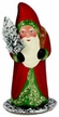 Red Santa Paper Mache Candy Container by Ino Schaller