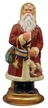 Red Santa with Bag & Rocking Horse Paper Mache Candy Container by Ino Schaller