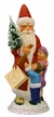 Red Santa with Children Paper Mache Candy Container by Ino Schaller