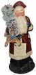 Red Santa with Horse Paper Mache Candy Container by Ino Schaller