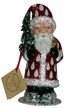 Red with White Dots Santa Paper Mache Candy Container by Ino Schaller