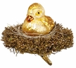 Resting Waterfowl, Baby Duck in Nest Ornament by Inge Glas