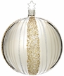 Ribbons Shiny Silver Ball, Large Ornament by Inge Glas