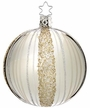 Ribbons Shiny Silver Ball, Small Ornament by Inge Glas