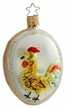 Rooster on Form Ornament by Inge Glas