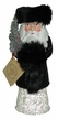 Russian Santa with Black Fur & Silver Star Paper Mache Candy Container by Ino Schaller
