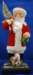 Russian Santa with Red Beaded Coat on Wood Base Paper Mache Candy Container by Ino Schaller