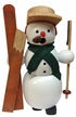 Snowman with Broken Skis Smoker by Erzgebirgische Volkskunst Richard Gl�sser GmbH
