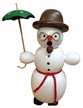 Snowman with Umbrella Smoker by Erzgebirgische Volkskunst Richard Glässer GmbH
