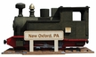 "Train ""New Oxford, PA"" Limited Edition Smoker  by Kunstgewerbe Lenk & Sohn"