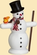 Snowman with Scarf Smoker by Seiffener Volkskunst eG