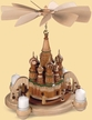 Saint Basil`s Cathedral Red Square, Moscow with Historical Figurines, 1-Tier, Natural Votive Pyramid by Kleinkunst aus dem Erzgebirge M�ller GmbH