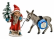 Santa and Donkey Paper Mache Figurine by Marolin