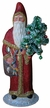 Santa Holding Tree Paper Mache Candy Container by Ino Schaller