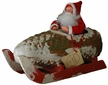 Santa in Pinecone Sleigh Paper Mache Candy Container by Ino Schaller