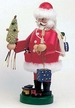 Santa Smoker with Tree and Train by Peter Wolf
