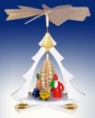 Santa with Sled Pyramid by Volker Zenker