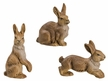 Set of 3 Rabbits  Paper Mache Figurines by Marolin