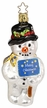 Signs of Christmas, Snowman Ornament by Inge Glas