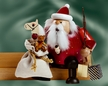 Sitting Santa with Switches Smoker by KWO Kunstgewerbe-Werkst�tten in Olbernhau