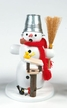 Snowman with Bird Feeder Smoker by Volker Zenker