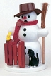 Snowman with Cat Smoker by Volker Zenker
