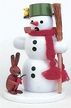 Snowman with Rabbit Smoker by Volker Zenker
