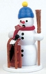 Snowman with Sled and Bird Smoker by Volker Zenker