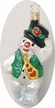 Snowy Swagger Snowman Ornament by Inge Glas
