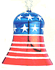 Sound of Freedom Bell Ornament by Inge Glas