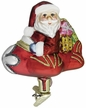 Special Delivery Santa Ornament by Inge Glas