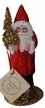 Sponged Red Coat Santa Paper Mache Candy Container by Ino Schaller