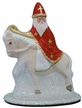 St. Nick on Horse Paper Mache Candy Container by Ino Schaller